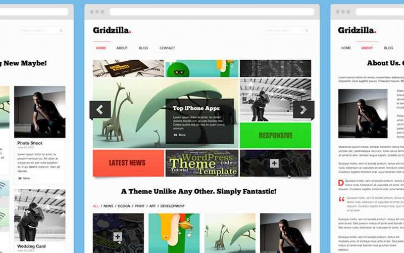 Gridzilla Magazing Layout PSD Template Free Adobe Photoshop