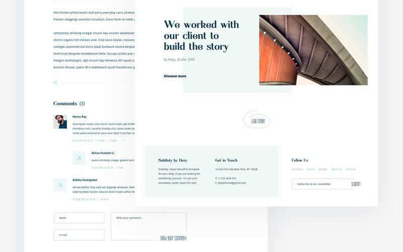 Subtlety Light Minimal Blog PSD Template Free Adobe Photoshop