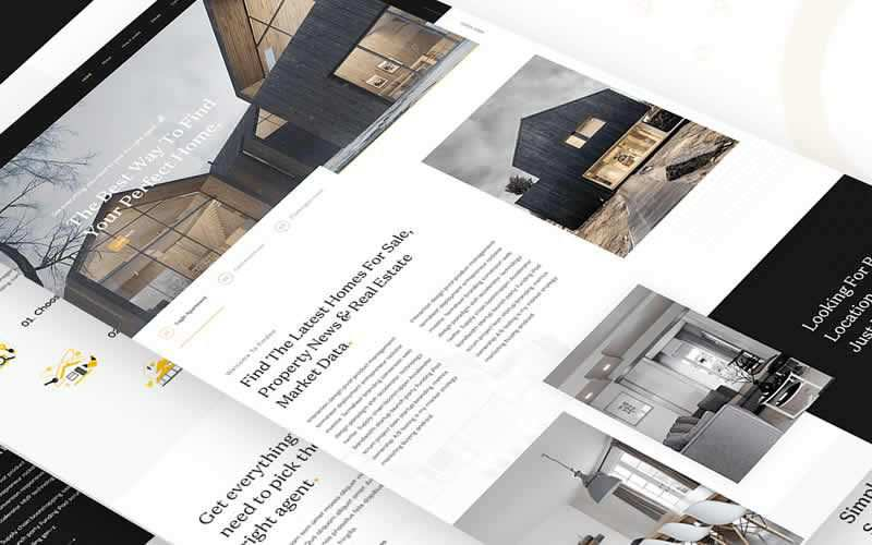 Real Estate Landing Page PSD Template Free Adobe Photoshop