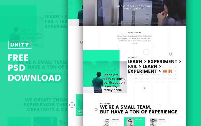 Trio Business Layout PSD Template Free Adobe Photoshop