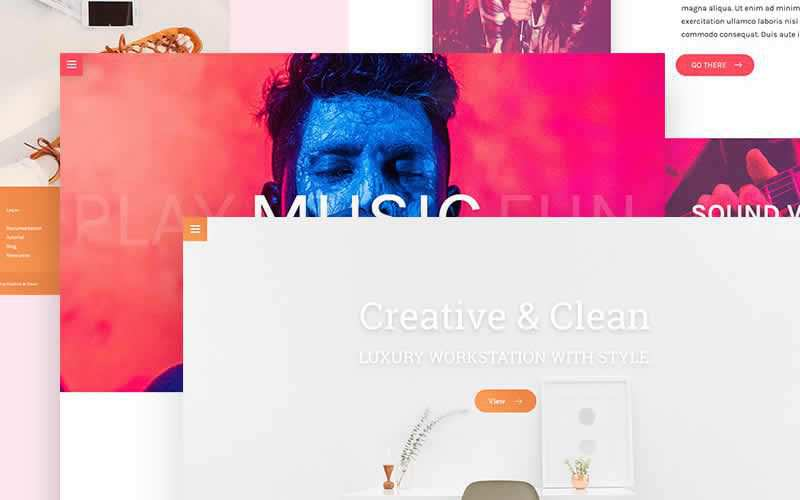Multiple Landing Page PSD Templates Free Adobe Photoshop