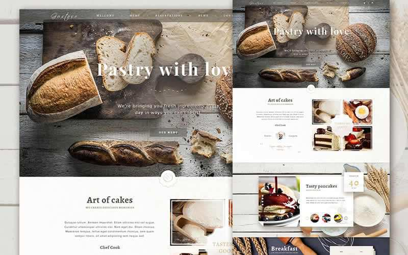 The Bakery Website Bakery eComerce PSD Free Adobe Photoshop