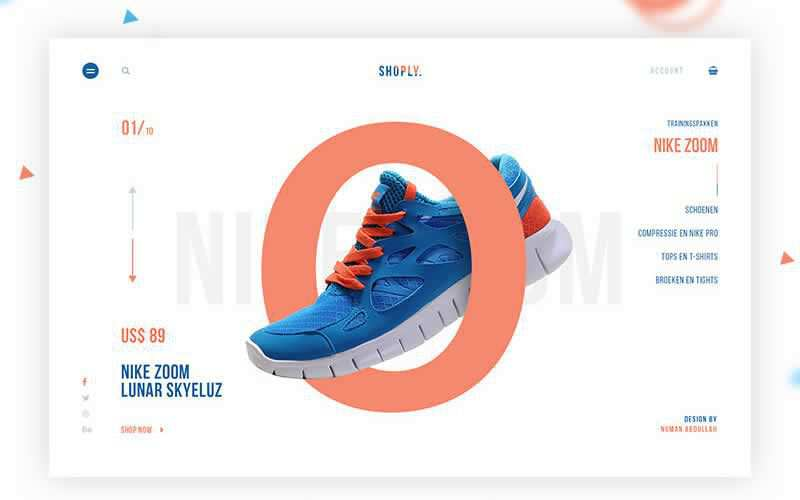 Shoply Sports eCommerce Web Template Free Adobe Photoshop