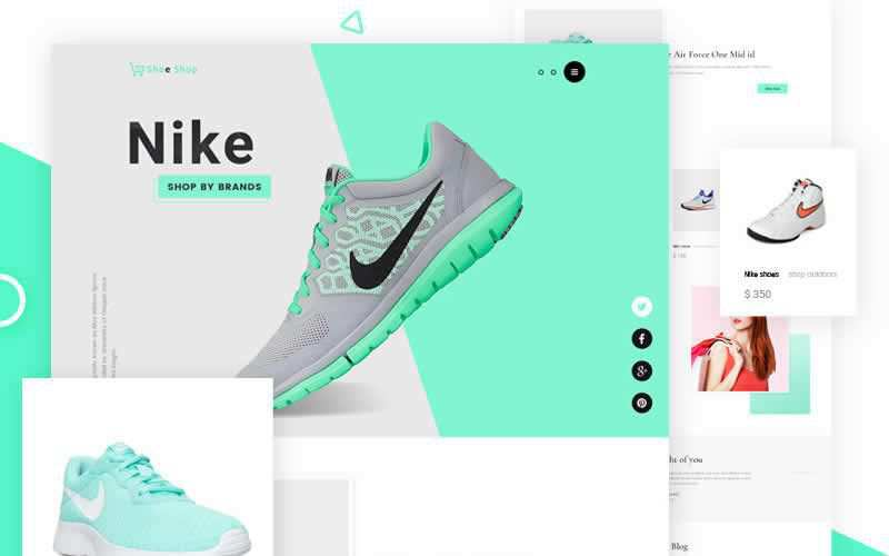Sneakers eCommerce Website Template Free Adobe Photoshop