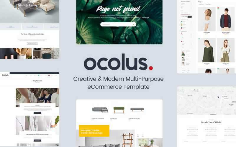 Ocolus Multi-Purpose eCommerce PSD Template Free Adobe Photoshop