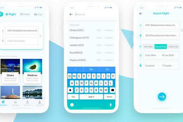 Travel Mobile App Template free ui templates resources designer