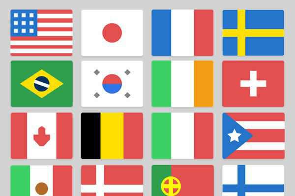 Google Style Minimal Flag Icons free ui templates resources designer