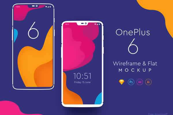 Free One Plus 6 Mockups ui templates resources designer