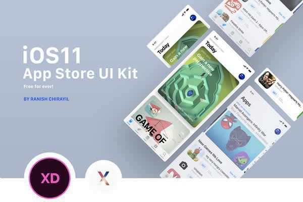 Free iOS 11 App Store GUI free ui templates resources designer