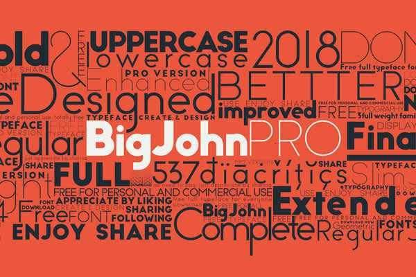 Big John Pro Free Typeface free ui templates resources designer