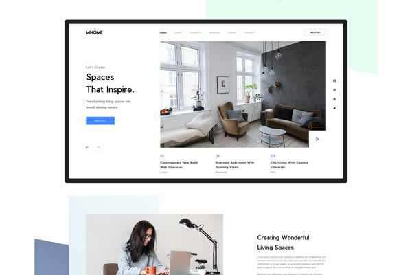 MI Home - Architectural Web Template free ui templates resources designer