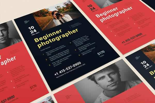 Beginner Photographer Poster free ui templates resources designer