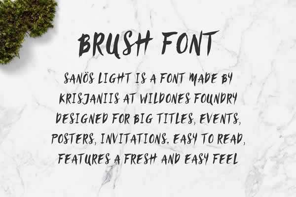 Brush Script Font free ui templates resources designer