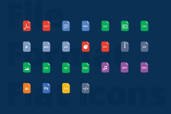 File format Flat Icons free ui templates resources designer