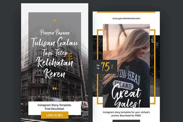 Instagram Stories Templates free ui templates resources designer