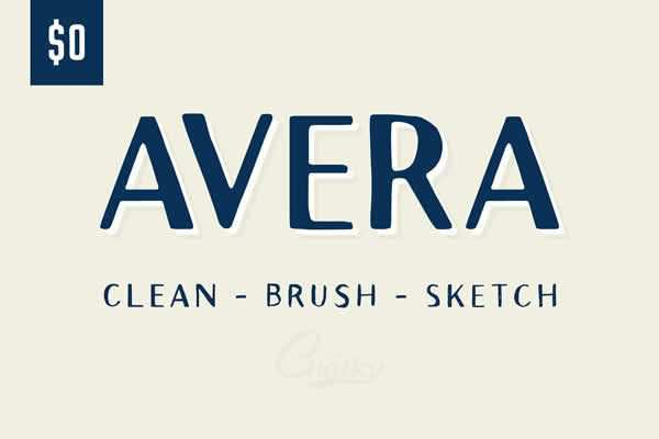 Avera Sans Hand Drawn Fon free ui templates resources designer