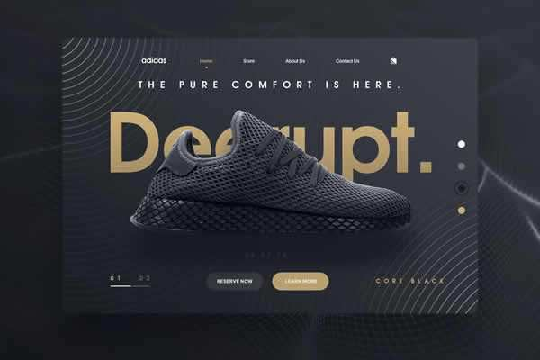 Shoes Landing Page Web Template free ui templates resources designer