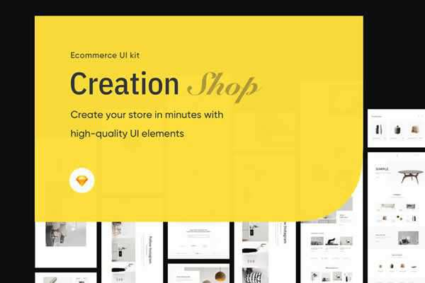 Shop UI Kit free ui templates resources designer