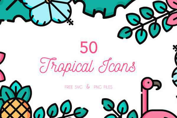 The Free Tropical Icon Set free ui templates resources designer