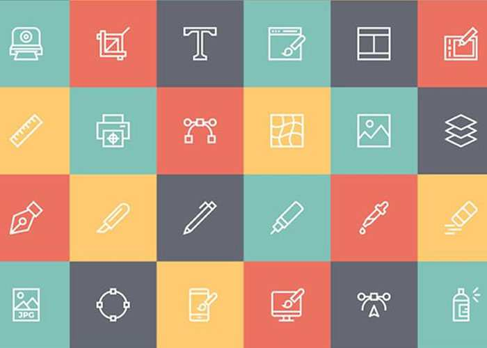 Free Line Icon Set for Designers (AI, EPS, SVG, PNG)