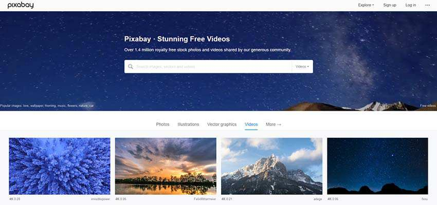Free Stock Video Source HD 4K Pixabay
