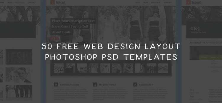 50 Free Web Design Photoshop PSD Templates