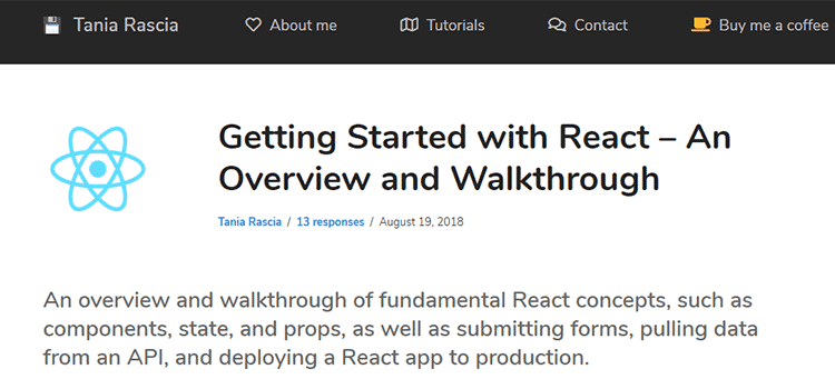 Getting Started with React – An Overview and Walkthrough