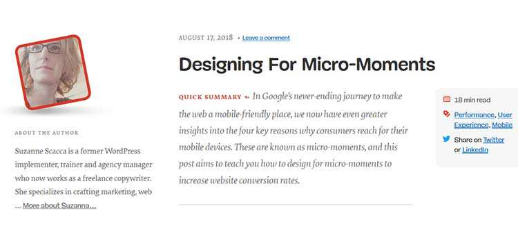 Designing For Micro-Moment