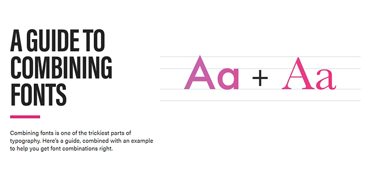 A Guide to Combining Fonts