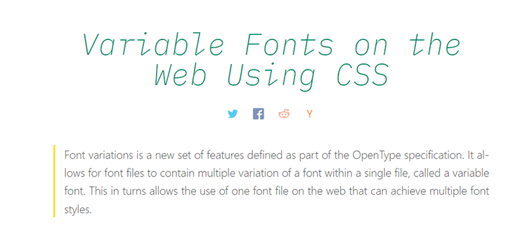 Variable Fonts on the Web Using CSS