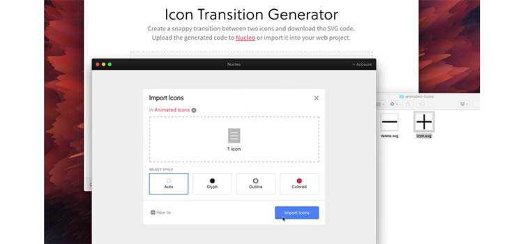 Icon Transition Generator