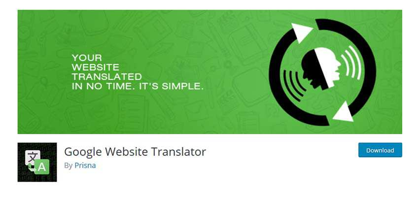 Google Website Translator WordPress Plugin