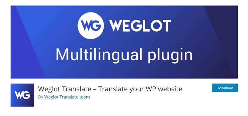 Weglot Translate WordPress Plugin