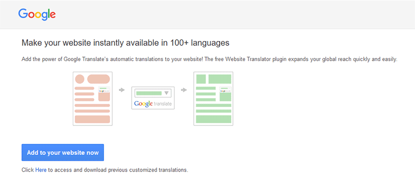 Google Website Translator Widget