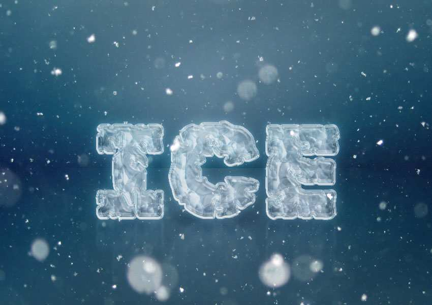 Easy-Ice-Text-Effect