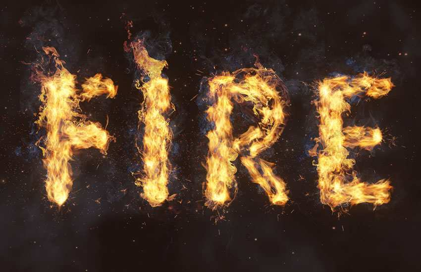 Flame-Text-Effect