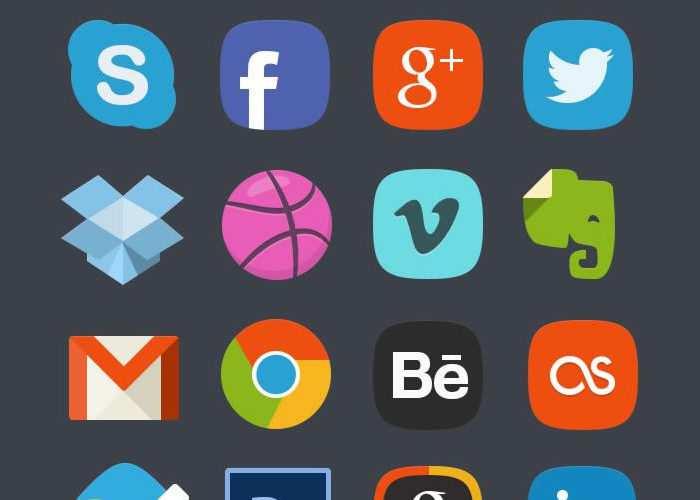 The Free Social Media Badges PSD Icon Set