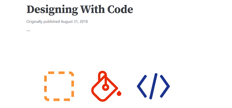 Designing With Code