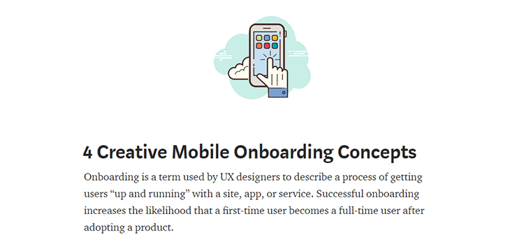 4 Creative Mobile Onboarding Concepts