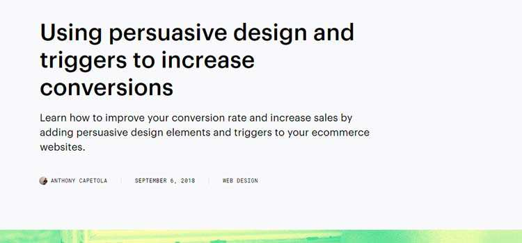 Using persuasive design and triggers to increase conversions