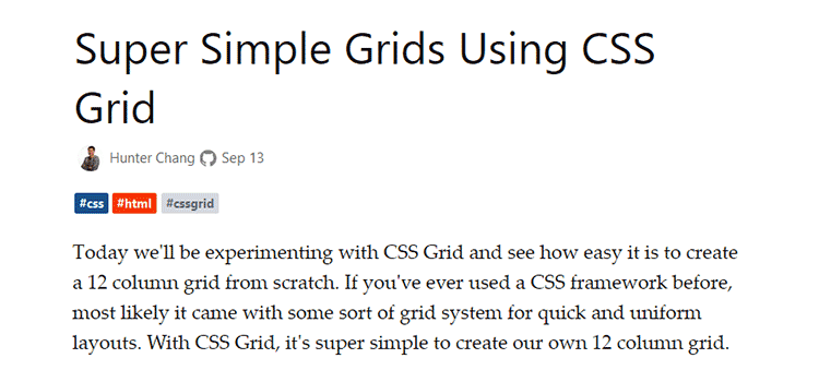 Super Simple Grids Using CSS Grid
