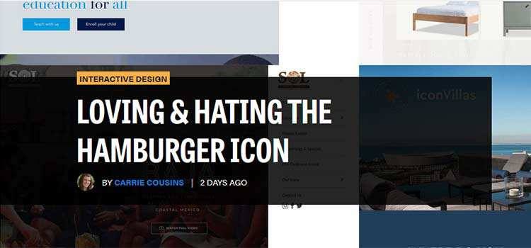 Loving & Hating the Hamburger Icon