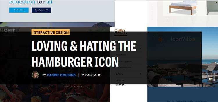 Loving & Hating the Hamburger Icon