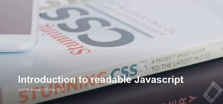 Introduction to readable Javascript
