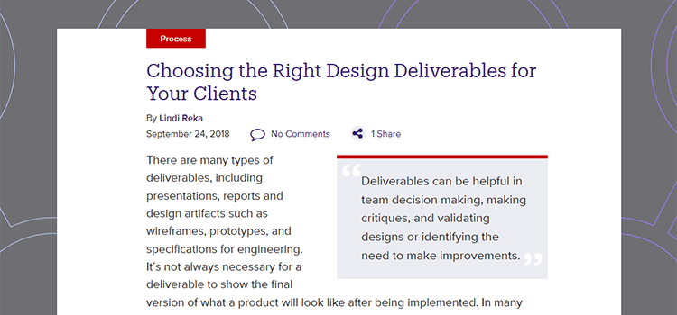 Choosing the Right Design Deliverables for Your Clients