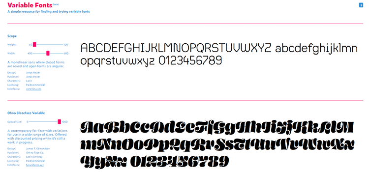 Variable Fonts
