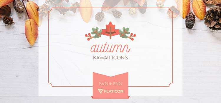 Freebie: Autumn Kawaii Icon Set