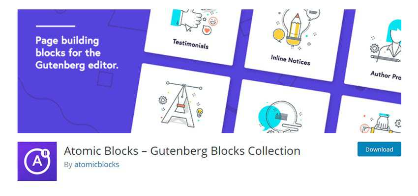 Atomic Blocks – Gutenberg Blocks Collection