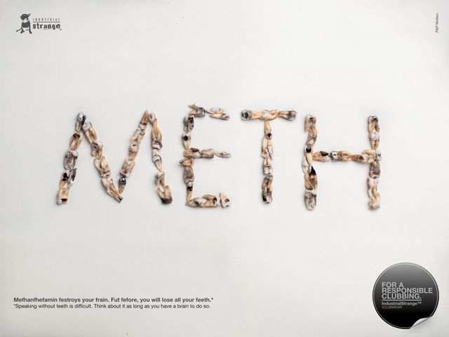 Meth typography in advertising