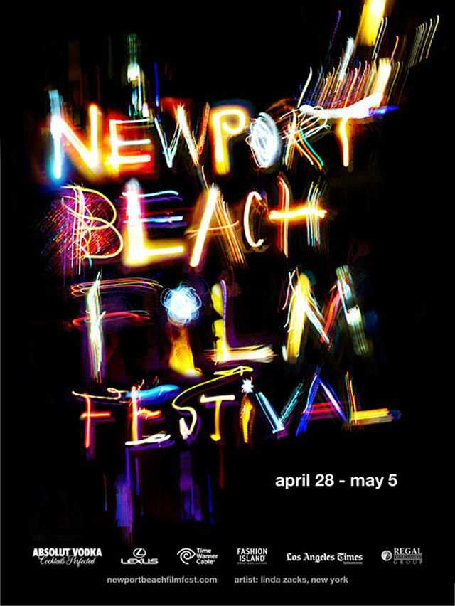 Newport Beach Film Festival typography in advertising